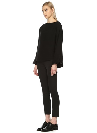 Beymen Collection İşlemeli İspanyol Kol Bluz Siyah